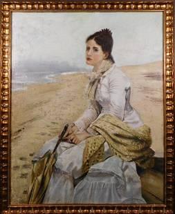 Portrait of Samantha on the Beach