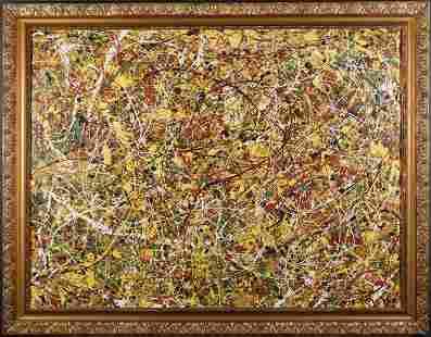 Manner of Jackson Pollock Drip Painting