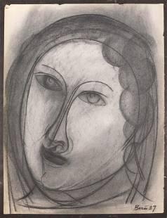 After Francisco Bores Portrait of a Woman