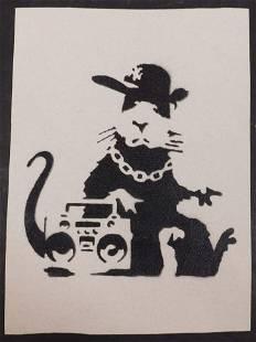 Banksy Boombox Rat