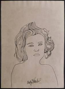 Andy Warhol Portrait of a Woman