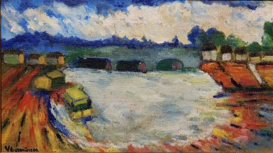 Maurice de Vlaminck River Scene
