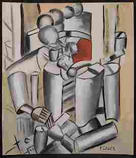 Fernand Leger Cubist Composition