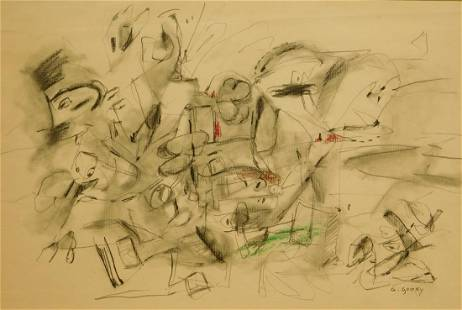 Arshile Gorky Abstract Expressionist Sketch