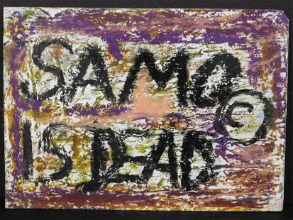 Manner of JeanMichel Basquiat Samo is Dead