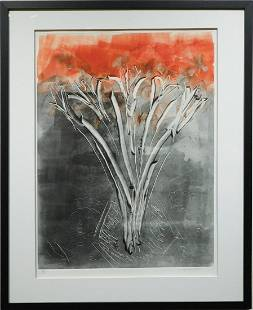 Abstract Floral Monotype c1980