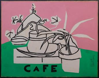 Stuart Davis,  Attributed: Cafe Plant Still Life