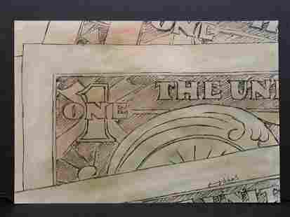 Andy Warhol Attr Dollar Bills