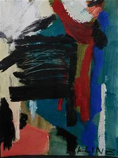 Franz Kline Attr Abstract Composition