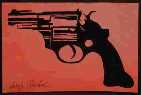 Andy Warhol Attr Pistol