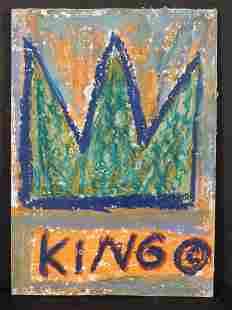 Manner of JeanMichel Basquiat King Postcard