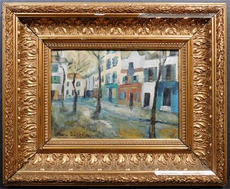 Manner of Maurice Utrillo: Place Du Tertre