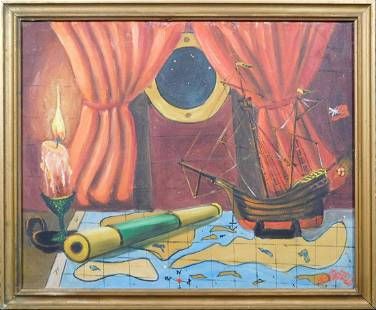 Robert W Heathfield Ship Interior Still Life