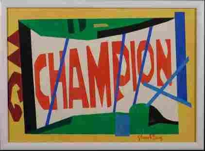 Stuart Davis Attributed Champion