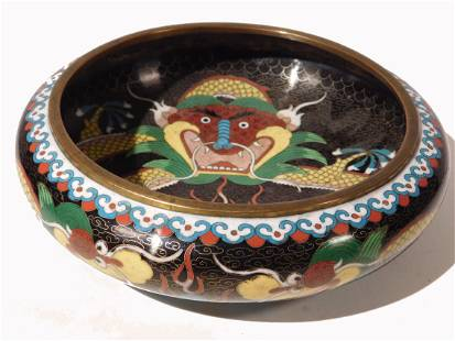 Chinese Dragon Bowl 8 inches