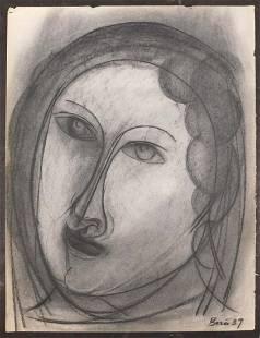 Francisco Bores Portrait of a Woman Print