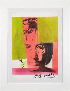 Andy Warhol Attributed John Lennon Portrait
