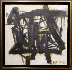 Franz Kline Attr. : Abstract Composition in Black and