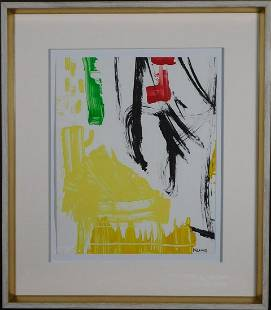 Franz Kline Attributed Abstract Composition