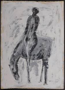 Marino Marini Attributed Cavallo E Giocolieri Horse