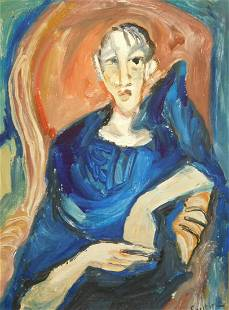 Chaim Soutine Manner of Attributed Portrait of a