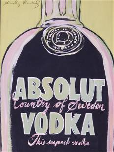 Andy Warhol Attributed Absolut Vodka