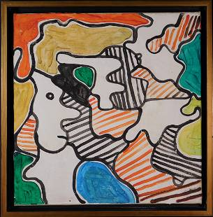 Manner of Jean Dubuffet Abstract Composition