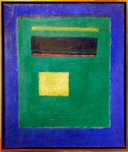 Mark Rothko Attr Abstract Composition in Greens and