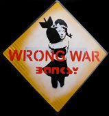 Banksy (Manner of): Bomb Hugger Wrong War