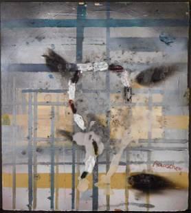 Manner of Robert Rauschenberg: Abstract Mixed Media