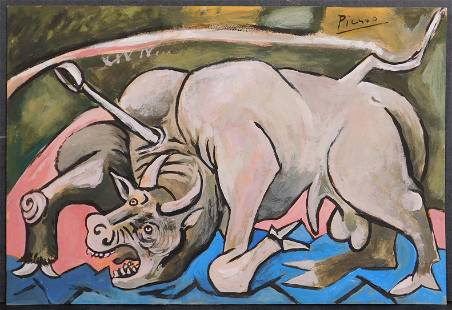 Pablo Picasso, Manner of: Bullfight