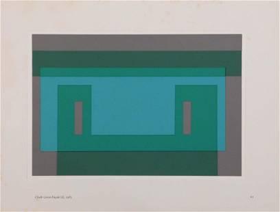 Joseph Albers: Chalk Green Facade