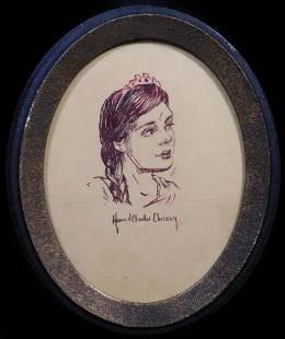 Howard Chandler Christy, Manner of: Sketch of a Girl
