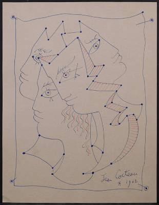 After Jean Cocteau: Four Faces
