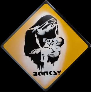 Banksy (Manner of): Toxic Mary