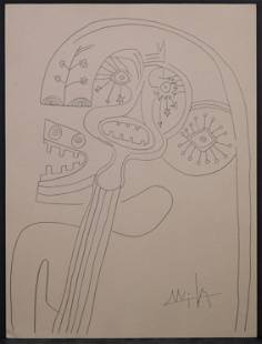 Wifredo Lam, Attributed/Manner of: Surrealist Figures (