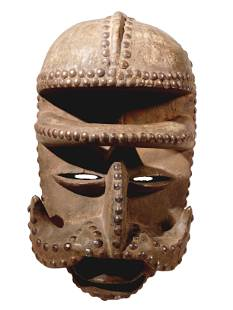African Abstracted Bete Gre Mask. 1885