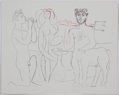 Pablo Picasso, After: Faun, Woman, Goat, and Centaur