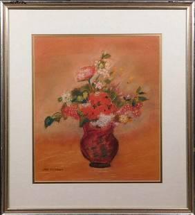 Jane Peterson Attr.: Pastel Floral Still Life