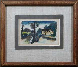 Maurice de Vlaminck  Attributed : Hand Colored