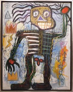 Jean-Michel Basquiat, Attributed: Skeletal Figure (ME)