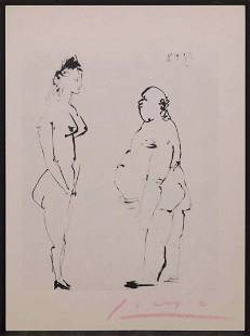 Pablo Picasso, After: Erotic Sketch