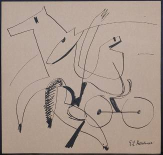 Ernst Kirchner, Manner of/ Attributed: Horse Pulled