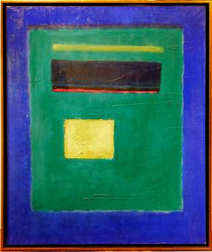 Mark Rothko Attr. : Abstract Composition in Greens and