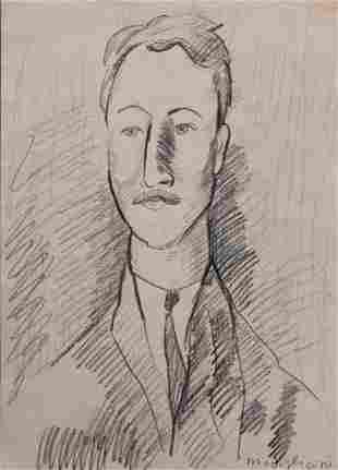 Manner of Amedeo Modigliani: Portrait of Leopold