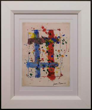 Sam Francis, Attributed: Abstract Composition