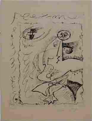 Andre Masson, After:  Untitled, from Body and Heart