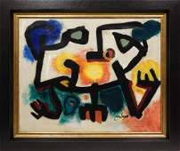 Joan Miro, Manner of: Abstract Composition