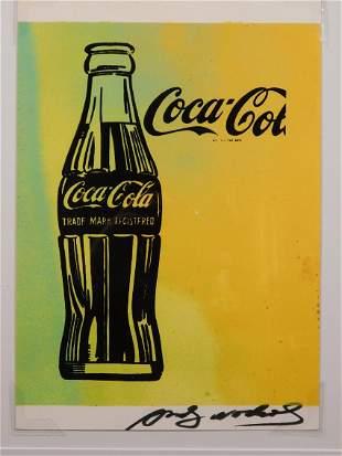 Andy Warhol Attr.: Coca Cola