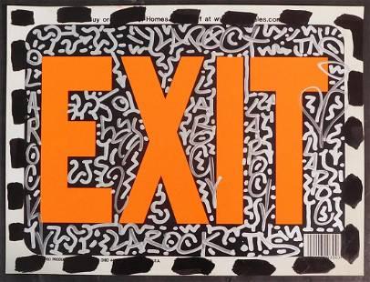 LA II (Angel Ortiz) Attributed: Exit Sign Graffiti